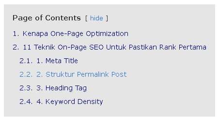 Heading tags SEO Score